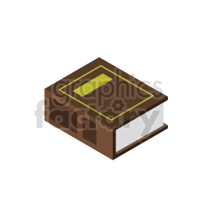 isometric law books vector icon clipart 2 clipart. Royalty-free image # 413971
