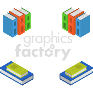 isometric book vector icon clipart 1 clipart. Commercial use image # 413981