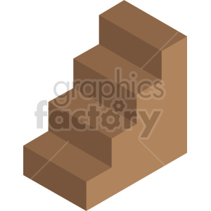 buildings isometric stairs