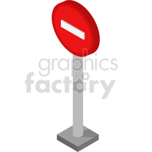 isometric road sign vector icon clipart  clipart. Commercial use image # 414038