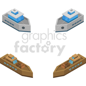 isometric ship vector icon clipart bundle clipart. Commercial use image # 414045