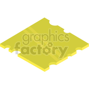 isometric cheese slice vector icon clipart
