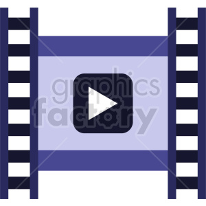 isometric film strip vector icon clipart 5