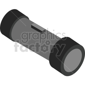 isometric flashlight vector icon clipart clipart. Commercial use image # 414103
