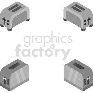 isometric toaster vector icon clipart 1 clipart. Commercial use image # 414112