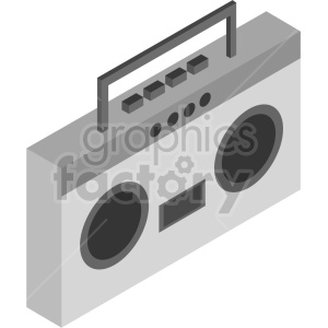 isometric 90s radio boom box vector icon clipart clipart. Commercial use image # 414125