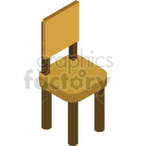 isometric chairs vector icon clipart 7