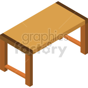 isometric dining table vector icon clipart 2 clipart. Commercial use image # 414191