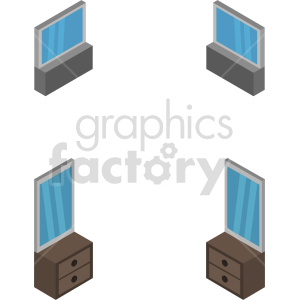 isometric mirror vector icon clipart 2 clipart. Commercial use image # 414211