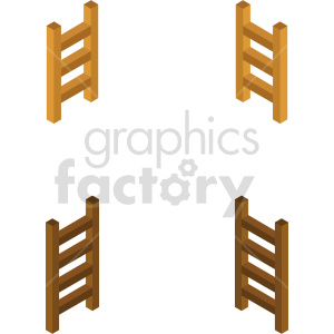 isometric ladder vector icon clipart 1