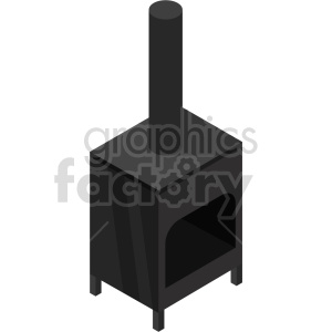 isometric wood burning stove vector icon clipart 2 clipart. Commercial use image # 414221