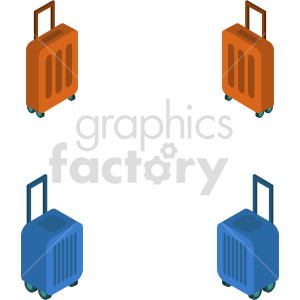isometric luggage vector icon clipart 3 clipart. Commercial use image # 414282