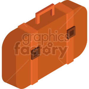 isometric travel bag vector icon clipart 6 clipart. Royalty-free image # 414300