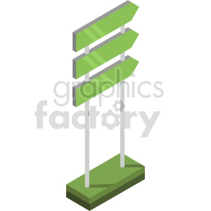 isometric outdoor sign vector clipart icon clipart. Commercial use image # 414313