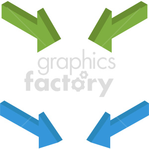 isometric arrows vector icon clipart 1 clipart. Commercial use image # 414317