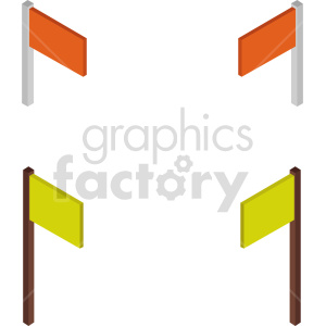 isometric flag vector icon clipart 1