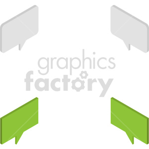 isometric chat boxes vector icon clipart 2