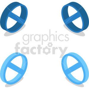 isometric ban cancel symbol vector icon clipart 3 clipart. Commercial use image # 414325
