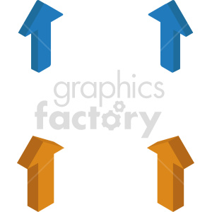 isometric arrows vector icon clipart 3 clipart. Commercial use image # 414331