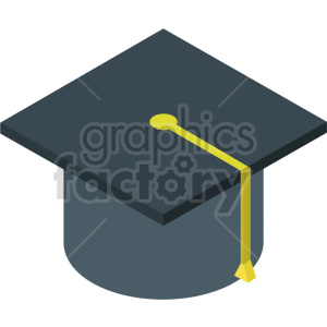 isometric graduation cap vector icon clipart clipart. Commercial use image # 414343