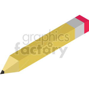 isometric 8bit pencil vector icon clipart clipart. Commercial use image # 414350