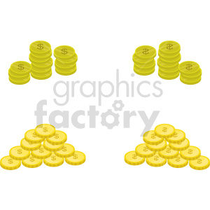 gold coins vector icon clipart 1 clipart. Commercial use image # 414366
