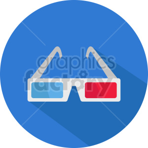 isometric cinema 3d glasses vector icon clipart 2 clipart. Commercial use image # 414391