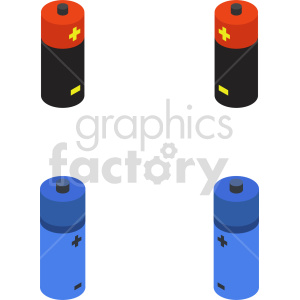 isometric battery vector icon clipart  clipart. Commercial use image # 414446