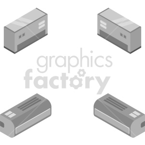isometric air conditioner vector icon clipart 1 clipart. Commercial use image # 414461