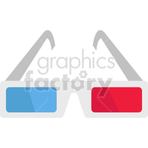 isometric cinema 3d glasses vector icon clipart 4 clipart. Commercial use image # 414466