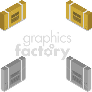 isometric boxes vector icon clipart 11 clipart. Commercial use image # 414494