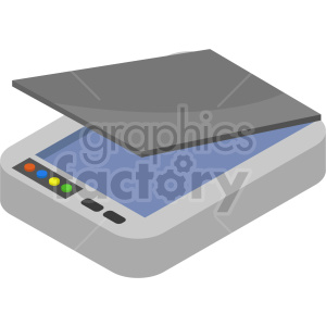 isometric scanner vector icon clipart 3 clipart. Commercial use image # 414524