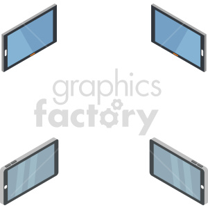 isometric smart device vector icon clipart clipart. Commercial use image # 414539