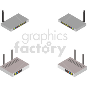 isometric network router vector icon clipart 1 clipart. Commercial use image # 414544