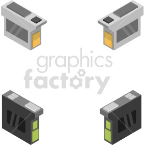 isometric ink cartridge vector icon clipart bundle clipart. Commercial use image # 414564