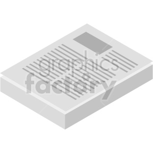 isometric document vector icon clipart 7 clipart. Commercial use image # 414570