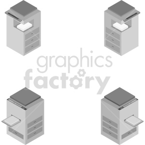 isometric copy machine clipart. Commercial use image # 414574