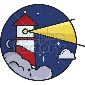 Lighthouse vector clipart icon clipart. Commercial use image # 414715