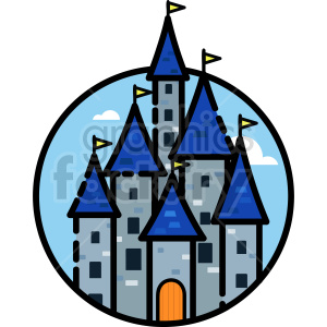 castle vector clipart icon clipart. Commercial use image # 414727