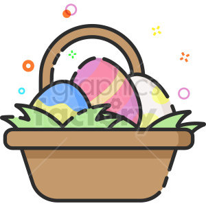 egg basket vector clipart icon clipart. Commercial use image # 414744