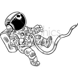 space walk black and white clipart clipart. Commercial use image # 414776
