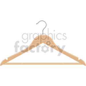 clothing wooden hanger vector graphic clipart. Commercial use image # 414803