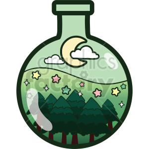 bottle forest vector clipart clipart. Commercial use image # 414860