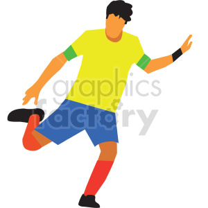 man playing soccer vector design clipart. Commercial use image # 414924