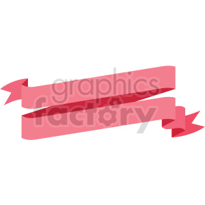 clipart - double pink slanted ribbon design vector clipart.