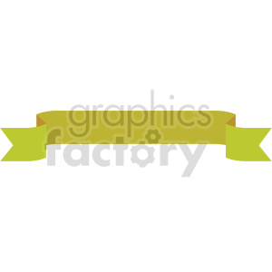 mustard yellow ribbon design vector clipart clipart. Commercial use image # 414992