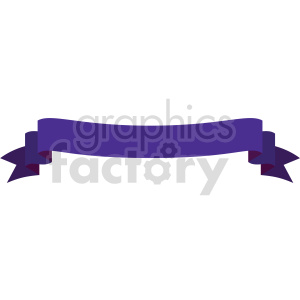 clipart - purple curved up ribbon design vector clipart.