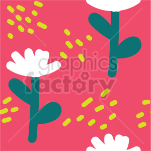 seamless cartoon flower background graphic clipart. Commercial use image # 415113