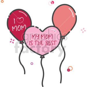 mothers day balloon clipart clipart. Commercial use image # 415118