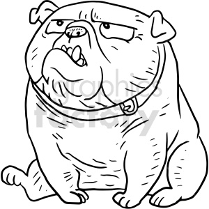 bulldog vector clipart graphic clipart. Commercial use image # 415131